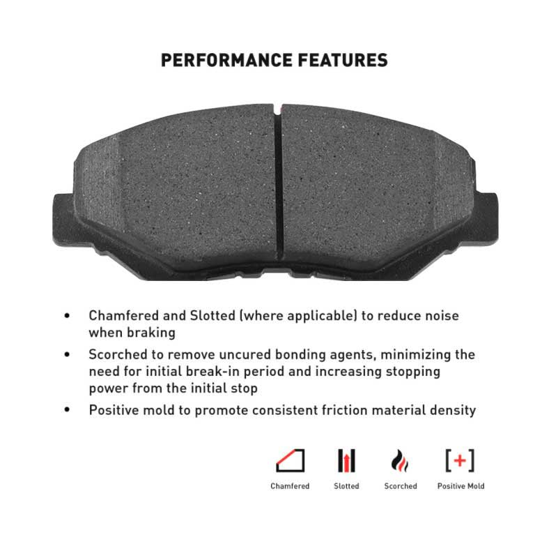 Replacement Parts Dynamic Friction Company 5000 Advanced Brake ...